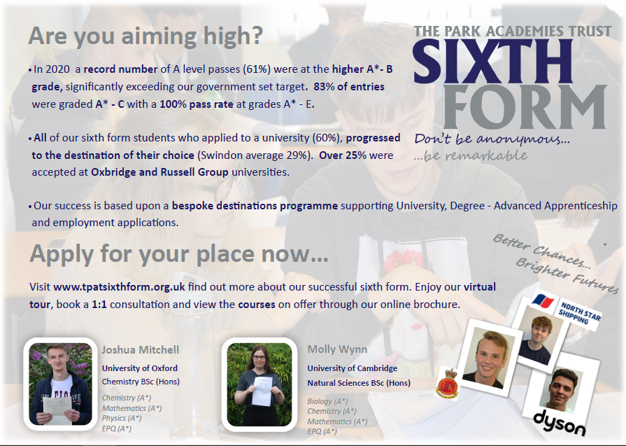 TPAT Sixth Form - Apply Now!